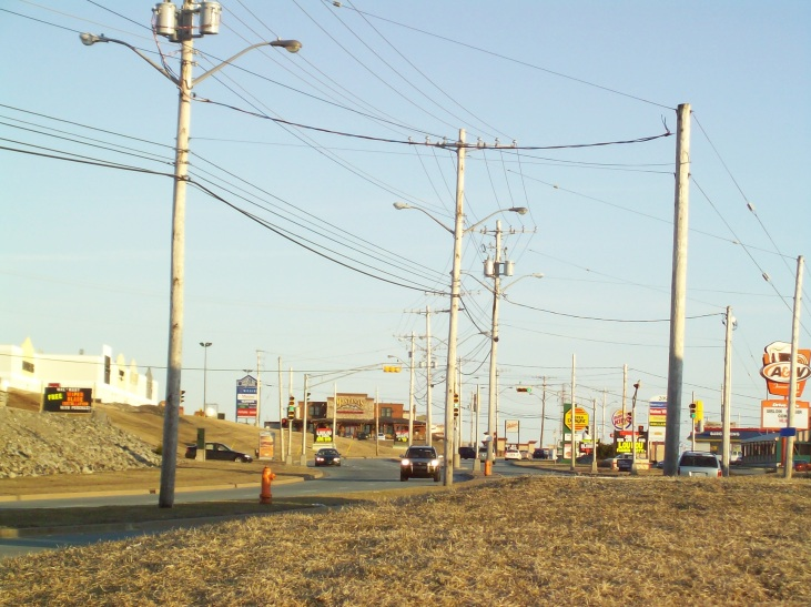 Halifax Utility Pole Lined Street Big Box Development