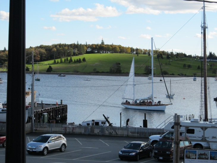 Lunenburg view to Golf Course from Downtown
