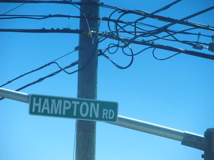 Hampton Road Sign