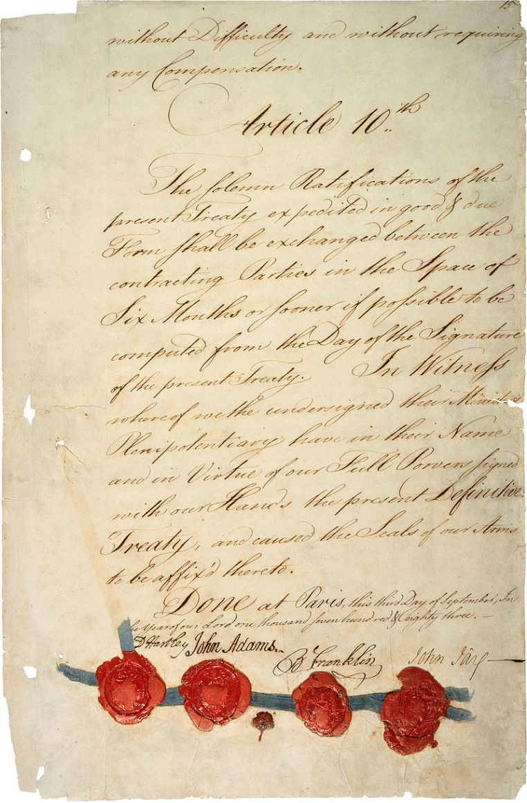 American Revolution Treaty_of_Paris_1783_-_last_page_(hi-res)