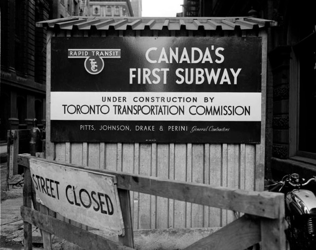 Canadas first subway line