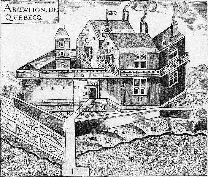 Champlain_Habitation_de_Quebec 1608
