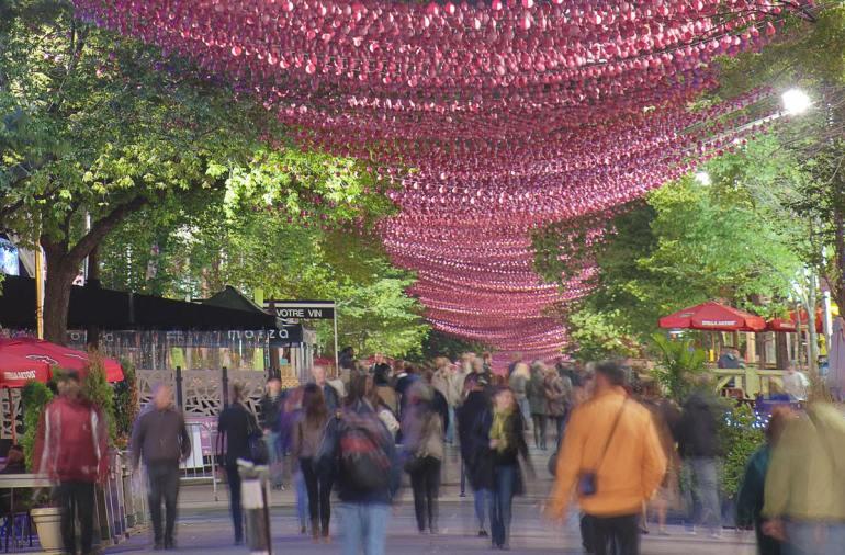 Montreal Claude Cormier Pink Balls