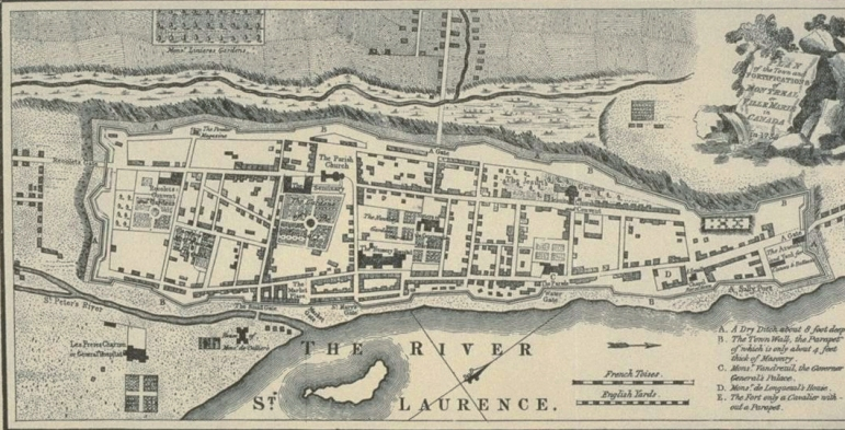 Montreal Map 1758