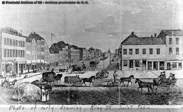 Saint John King St early 1800 drawing NB Achives P37-31