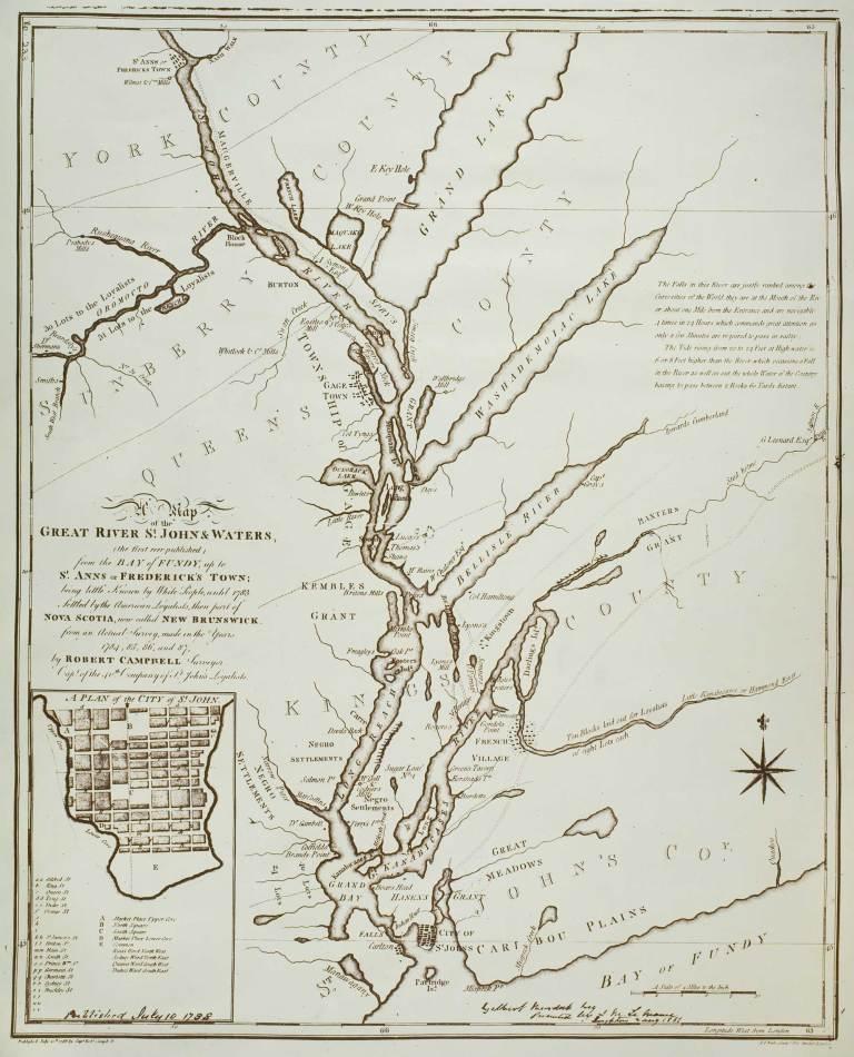 Saint John Map 1788
