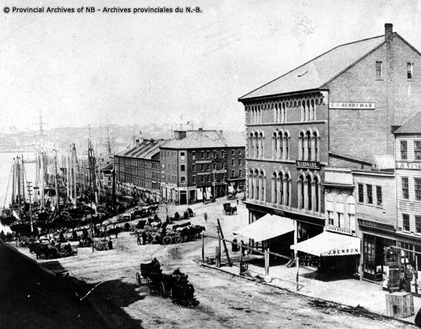 Saint John Market Slip Pre 1877 Fire NB Archives P37-53
