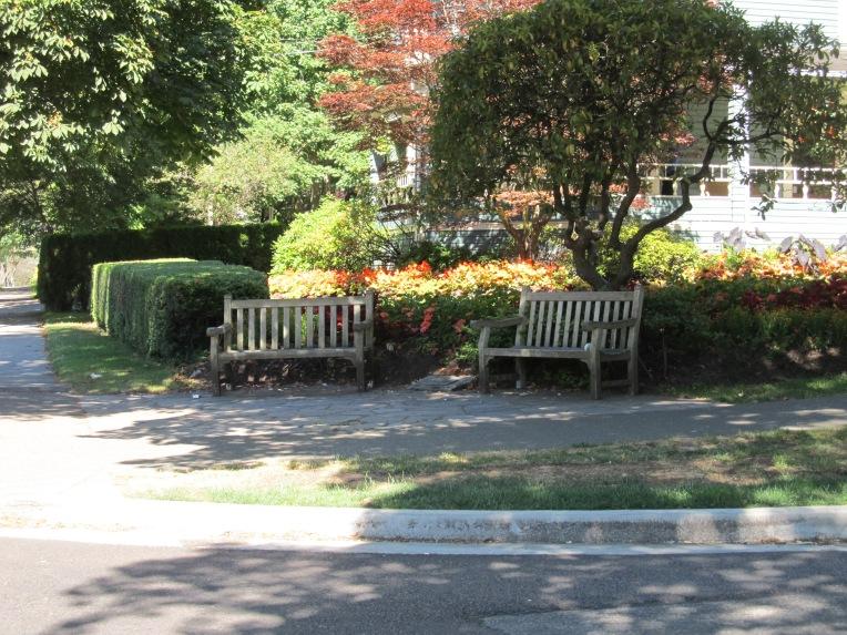 Vancouver corner park bench