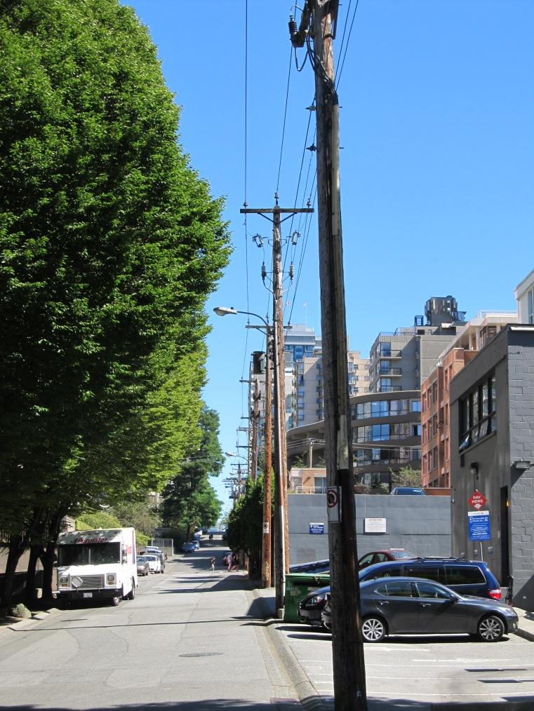 Vancouver rear lot utility corridor