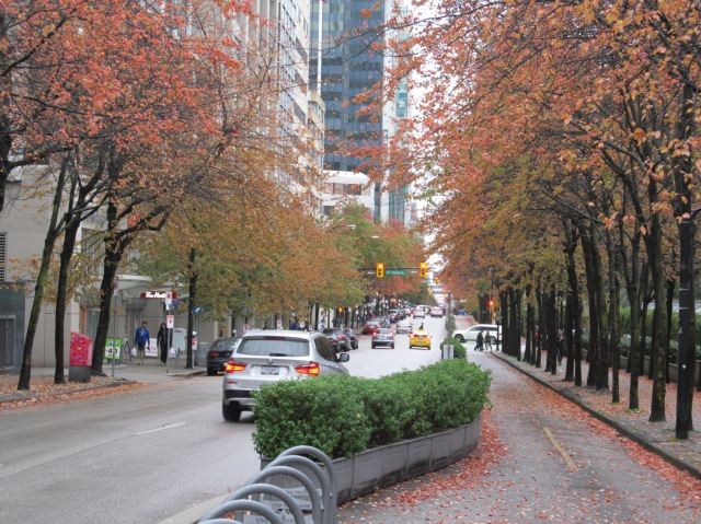 Vancouver cycle lane