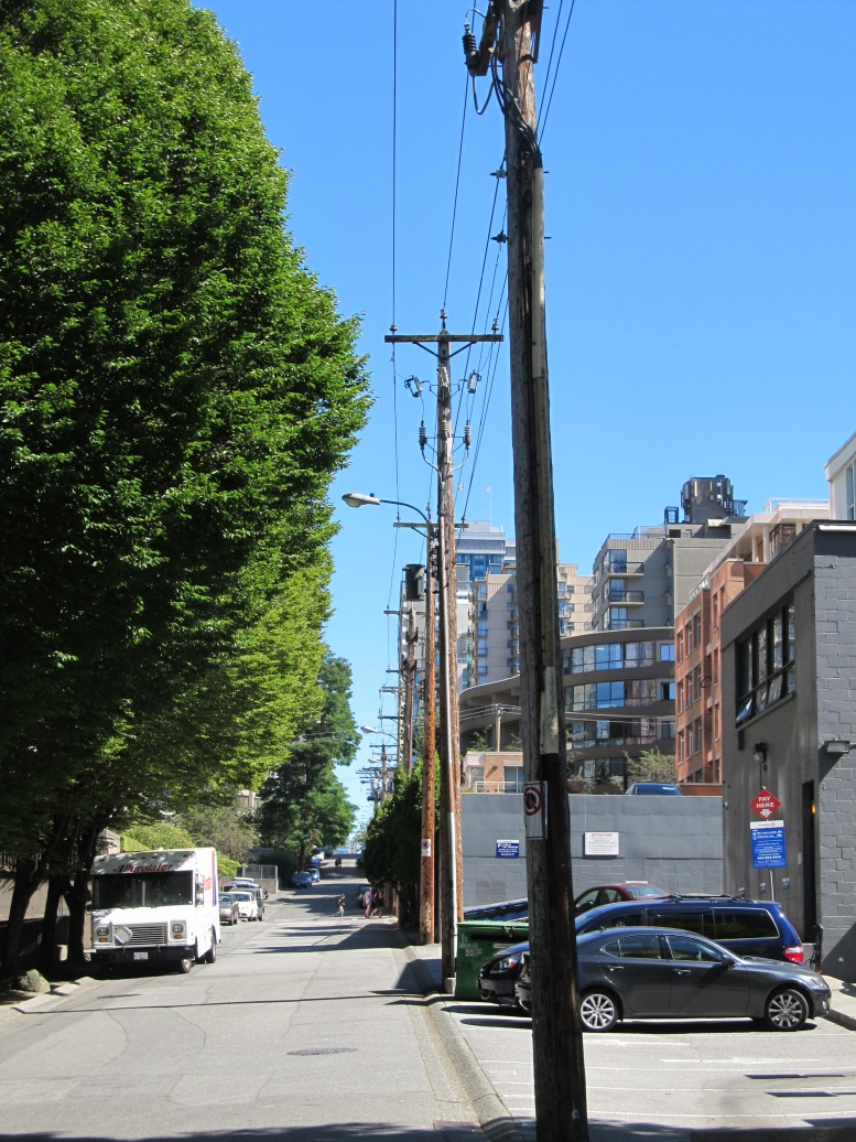 Vancouver utility corridor with trees