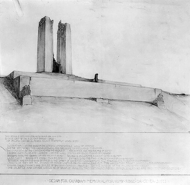 615px-Vimy_Memorial_-_Allward_design_submission